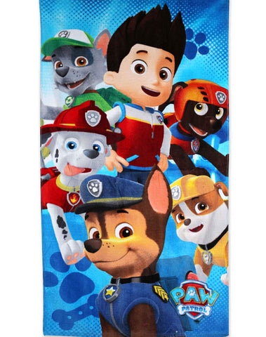 Kids Boys Official Licensed Paw Patrol Cotton Towel 140X70cms - Character Direct