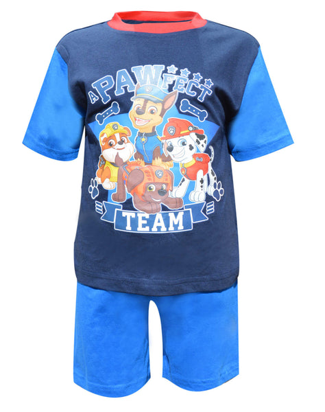 Official Boys Paw Patrol Short Pyjamas 1 to 4 Years - Character Direct