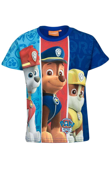 Boys Official Paw Patrol Tshirt Top Age 2 to 8 Years - Character Direct