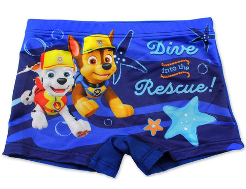 Boys Official Licensed Paw Patrol Print Swim Shorts Age 2-8 Years - Character Direct