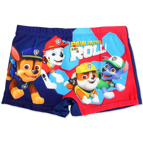 Boys Official Licensed Paw Patrol Print Swim Shorts Age 2 to 8 Years - Character Direct