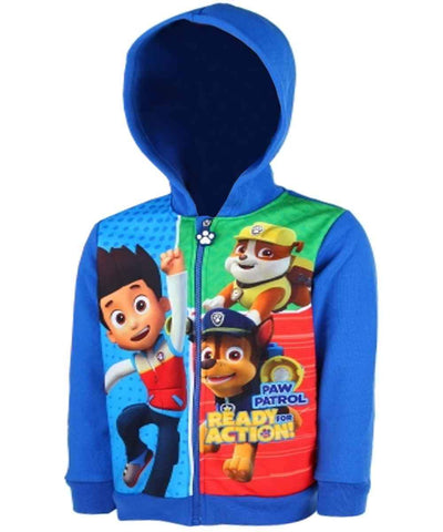 Boys Paw Patrol Zipped Hoodie Age 3 to 8 Years - Character Direct