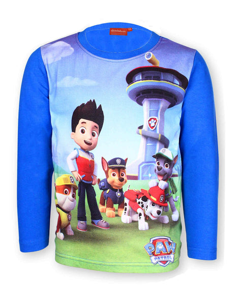 Boys Ryder Chase Marshall Print Long Sleeve Top 3-8 Years - Character Direct