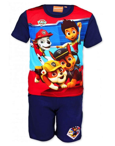 Official Boys Paw Patrol Short Pyjamas Beach Set in Dark Blue 2 to 8 Years - Character Direct