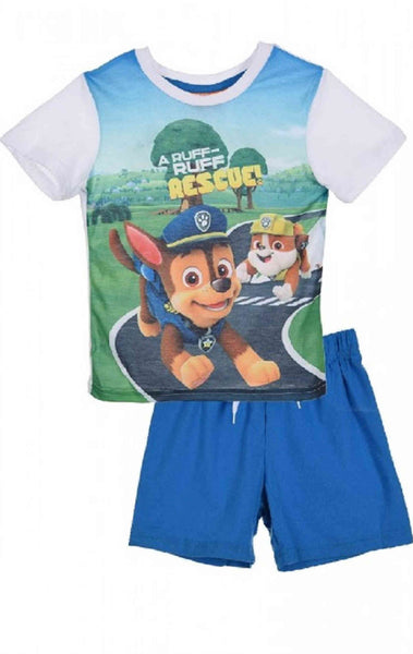 Official Boys Paw Patrol Short Pyjamas 3-8 Years - Character Direct