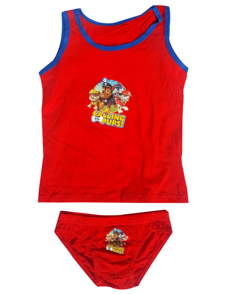 Boys Official Paw Patrol Vest and Knicker Underwear Set Age 2 to 8 Years - Character Direct