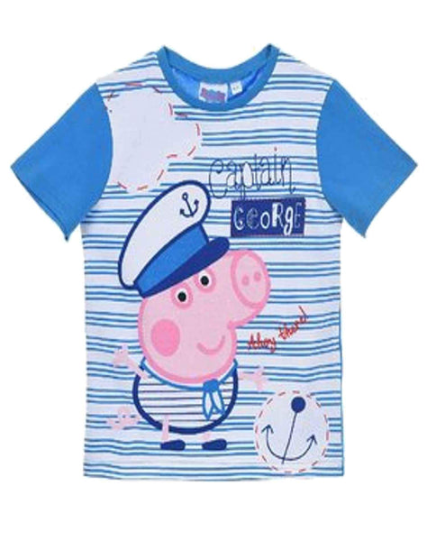 Boys Official Peppa Pig Cotton Tshirt Age 2 to 8 Years - Character Direct