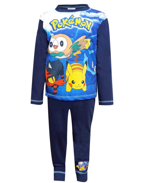 Boys Pokemon Pikachu Ivysaur Squirtle Print Pyjamas Age 5 to 12 Years - Character Direct