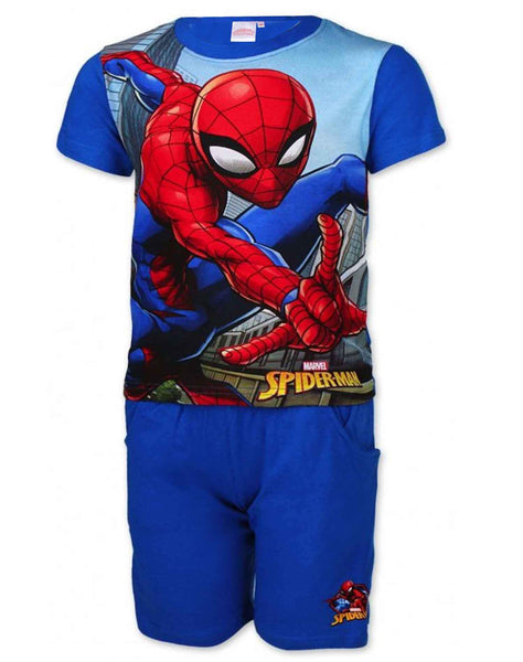 Boys Official Spiderman Short Pyjamas Beach Set Age 3 to 8 Years - Character Direct