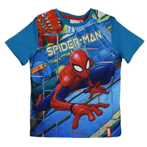 Marvel Spiderman Official Licensed Printed Boys Tshirt Top Age 2 to 8 Years