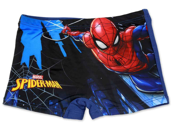 Boys Official Licensed Marvel Spiderman Print Swim Shorts Age 2-8 Years - Character Direct