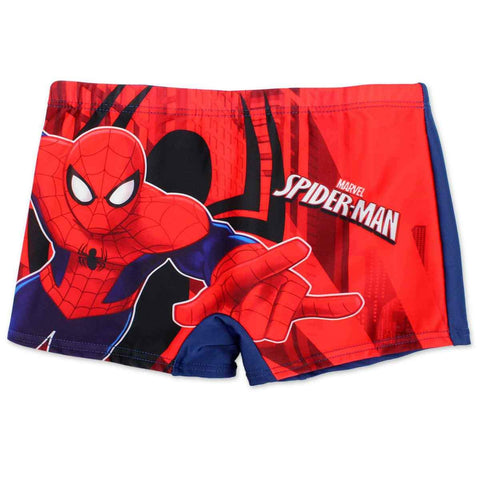 Boys Official Licensed Spiderman Print Swim Shorts Age 2-8 Years - Character Direct