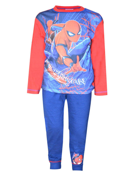 Official Boys Spiderman Home Coming Movie Long Length Pyjama 4 to 10 Years - Character Direct