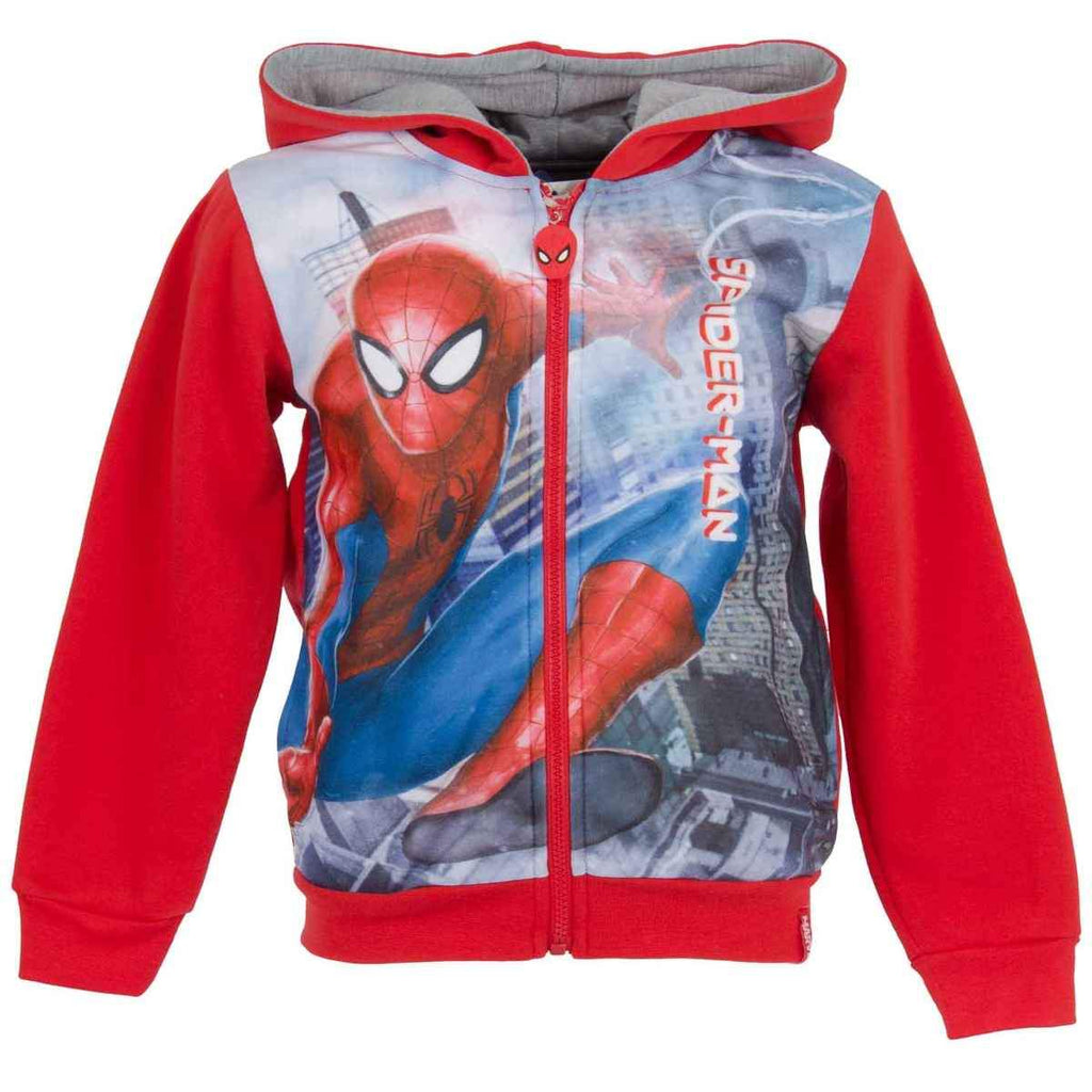 f4ef3b69f Boys Spiderman Hooded Zipped Hooded Top Sweaters Jacket Age 2 to 8 ...
