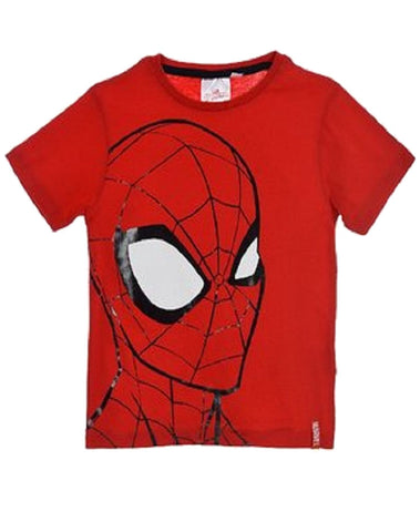 Marvel Spiderman Boys Short Sleeve T-Shirt Age 2-8 Years - Character Direct