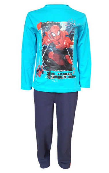 Marvel Spiderman Boys Long Length Pyjama 3 to 8 Years - Character Direct