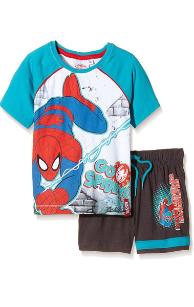 Boys Official Spiderman Short Pyjamas Age 3 to 8 Years - Character Direct