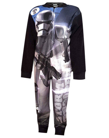 Boys Star Wars Sublimation Print Micro Fleece Polar Long Length Onesies 4 to 8 Years - Character Direct