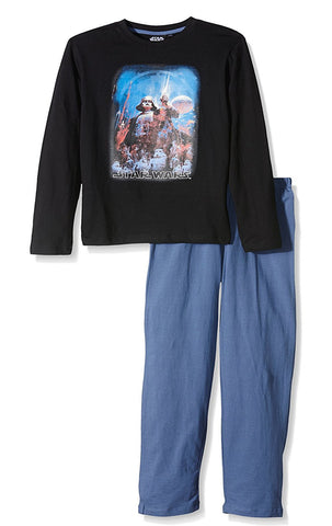 Boys Official Star Wars Long Length Pyjamas Age 4 to 10 Years - Character Direct