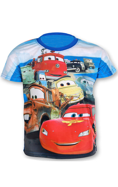 Disney Pixar Cars Boys Short Sleeve T-Shirt Age 3 to 8 Years