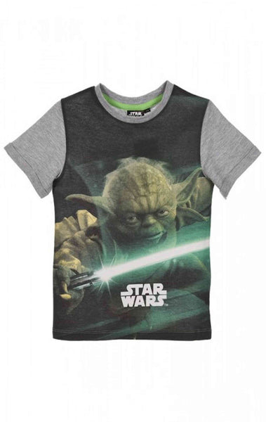 Starwars Boys Printed T-Shirt Top Age 3 to 10 Years - Character Direct