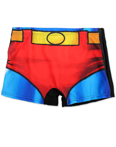Boys Official Licensed Superman Costume Print Swim Shorts Age 5 to 12 Years - Character Direct
