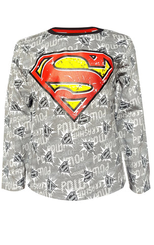 DC Comics Superman Boys Top T-Shirt Age 3 to 12 Years - Character Direct