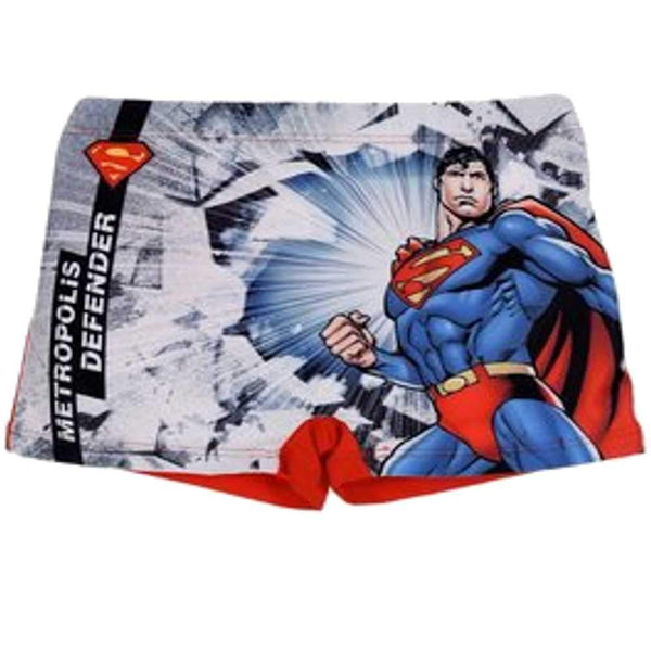 Boys Official Licensed Superman Print Swim Shorts Age 2 to 8 Years - Character Direct