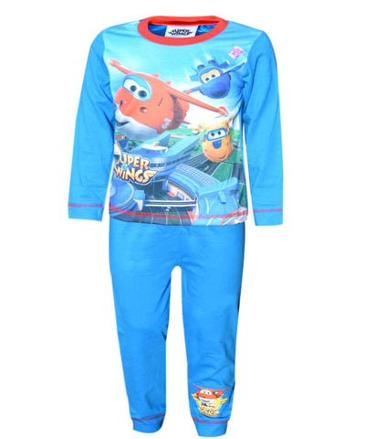 Boys Official Licensed Super Wings Long Length Pyjamas - Character Direct