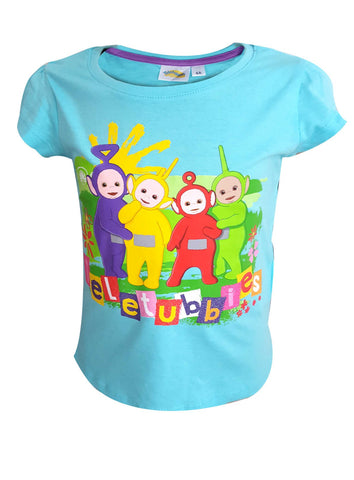 Official Licensed Girls Teletubbies Short Sleeve Top Tshirt Age 2 to 6 Years - Character Direct