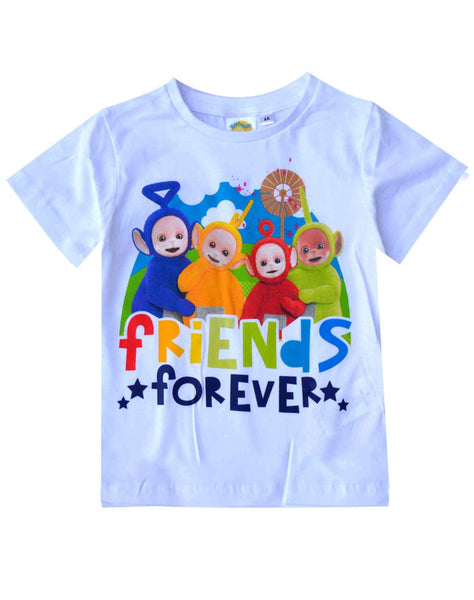 Official Licensed Boys Girls Teletubbies Short Sleeve Top Tshirt Age 2 to 6 Years - Character Direct