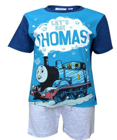 Official Licensed Kids Thomas & Friends White Short Pyjamas Age 2 to 5 Years - Character Direct