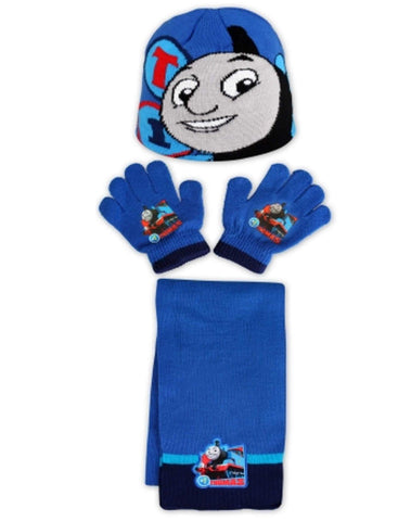 Boys Thomas & Friends Official Licensed Gloves , Beanie Hat & Scarf Set One size 2 to 6 Years - Character Direct