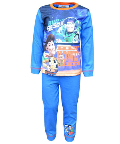Boys Official Licensed Toy Story Buzz Woody Long Length Pyjamas 1.5-5Years - Character Direct