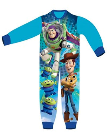 Boys Licensed Toy Story Buzz Lightyear Woody Micro Fleece Onesies Age 1 to 5 Years - Character Direct