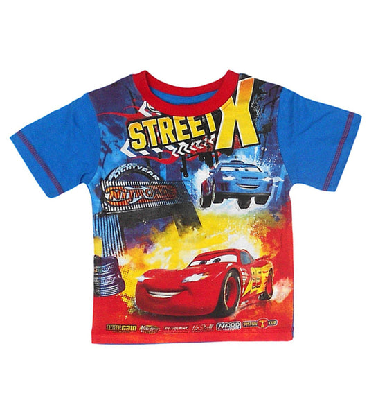 Disney Pixar Cars Boys Blue Short Sleeve T-Shirt Top Age 2 Years - Character Direct