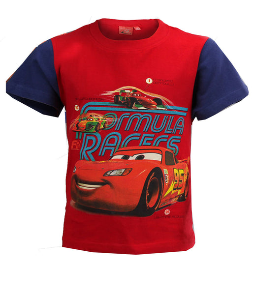 Disney Pixar Cars Boys Red Short Sleeve T-Shirt Top Age 3 Years - CharacterDirect