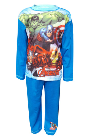 Boys Avengers Capt. America Hulk Print Pyjamas Age 4 to 10 Years - Character Direct