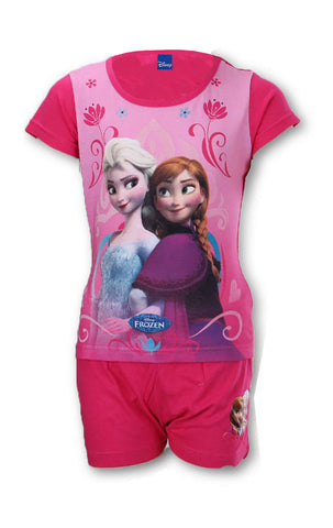 Disney Frozen Princess Elsa Anna Girls Short Pyjama Age 3 to 8 Years - Character Direct