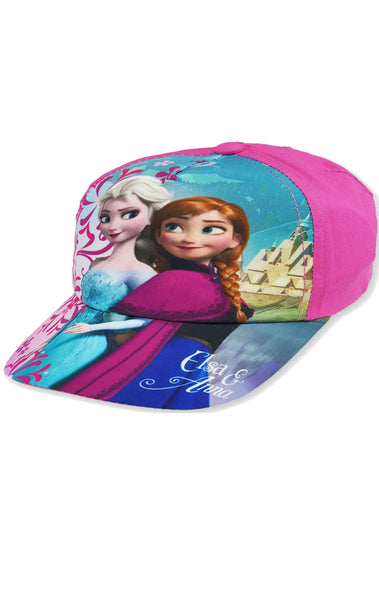 Disney Girls Frozen Elsa Anna Hat Cap Baseball Hat age 2 to 8 Years - Character Direct