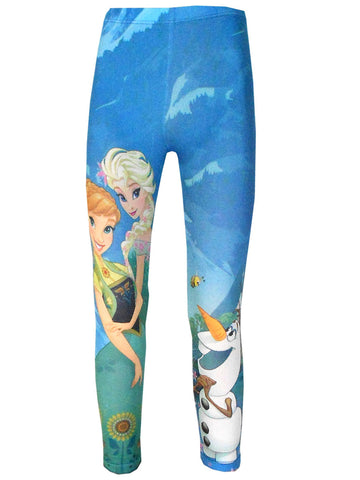 Disney Frozen Girls Legging Tights Age 3 to 9 Years - Character Direct