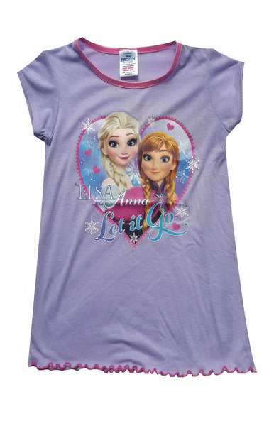 Disney Frozen Princess Elsa Anna Girls Nightwear Sleepwear 2 to 8 Years - Character Direct