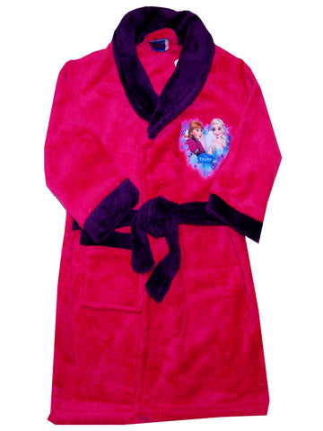 Girls Disney Frozen Fleece Dressing Gown Robe Age's 3-8 Years - Character Direct