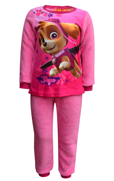Girls Paw Patrol Printed Fleece Polar Long Length Pyjamas 2 to 6 Years - Character Direct