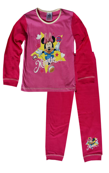 Girls Toddlers Minnie Mouse Snuggle Fit Pyjamas Age 1 to 4 Years - Character Direct
