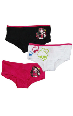 Girls Monster High Official 3 Pack Pants Knickers Briefs 6 to 11 Years - Character Direct
