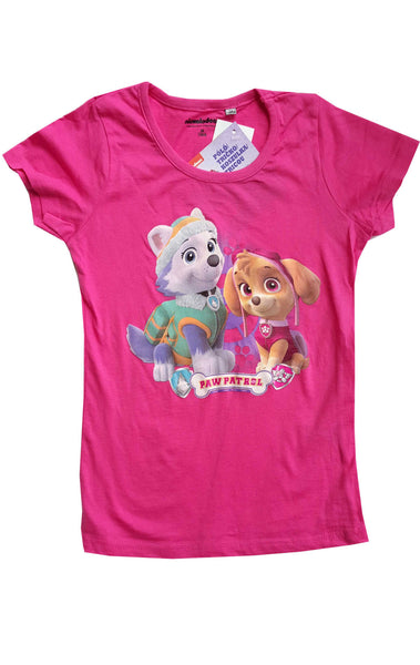 Girls Official Paw Patrol Tshirt Top Age 3 to 8 Years - Character Direct