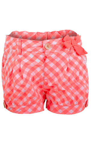 Lily & Lola Girls Bow Detail Crochet Trim Pocket Shorts 1 to 4 Years - CharacterDirect