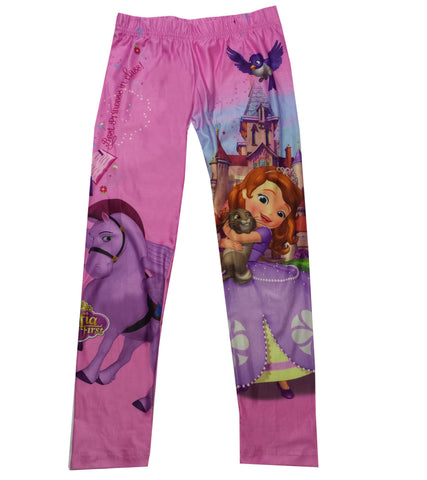 Disney Girls Kids Sofia the First Princess Legging - Character Direct