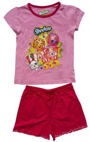 Official Girls Shopkins Short Pyjamas Age 4 to 10 Years - Character Direct